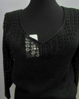 Пуловер с ажурной отделкой