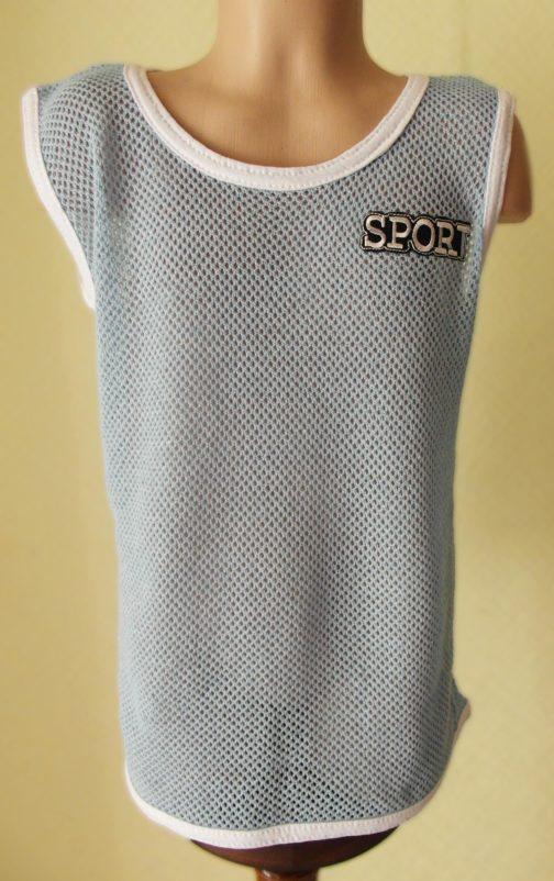 футболка кольчуга детская цвет голубой
