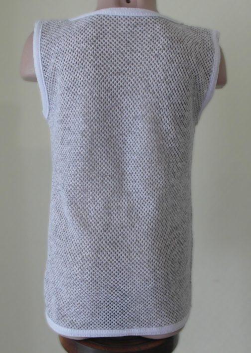 футболка кольчуга детская цвет белый спина