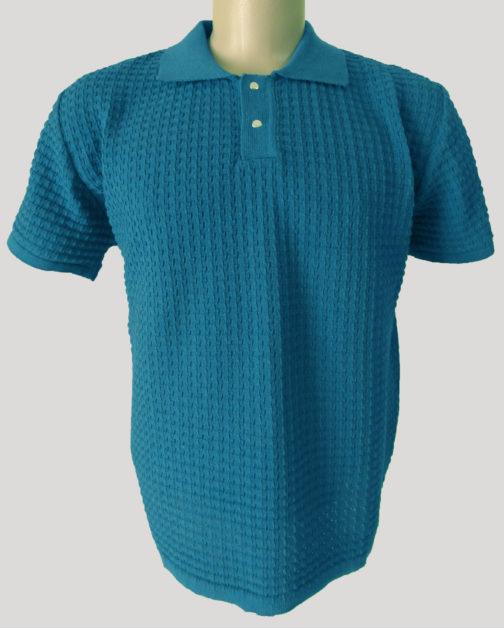 футболка поло голубая