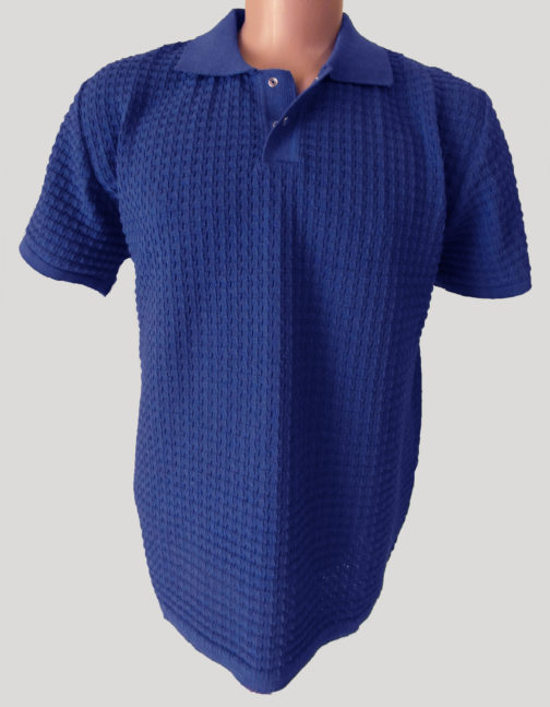 футболка поло синяя