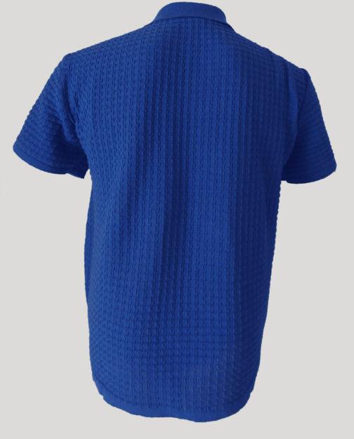 футболка поло синяя (спина)