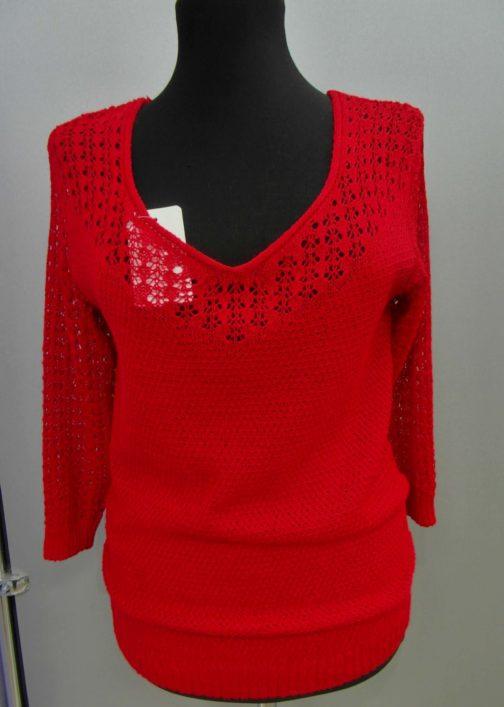 пуловер ажурный