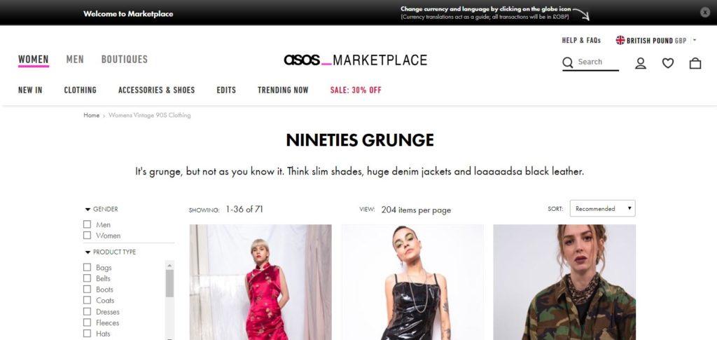 Asos маркетплейс милостиво позволяет (за деньги) резвиться производителям на своей торговой площадке