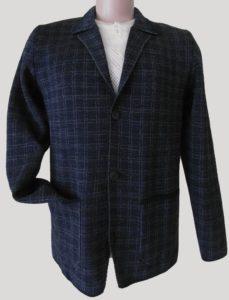пиджак мужской синяя клетка стиль