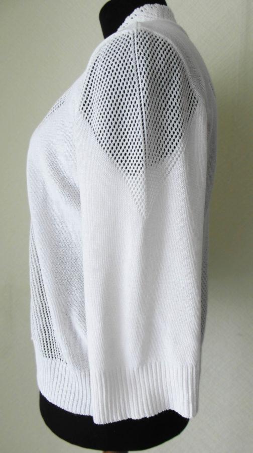 костюм женский двойка вязаный (накидка вид сбоку)