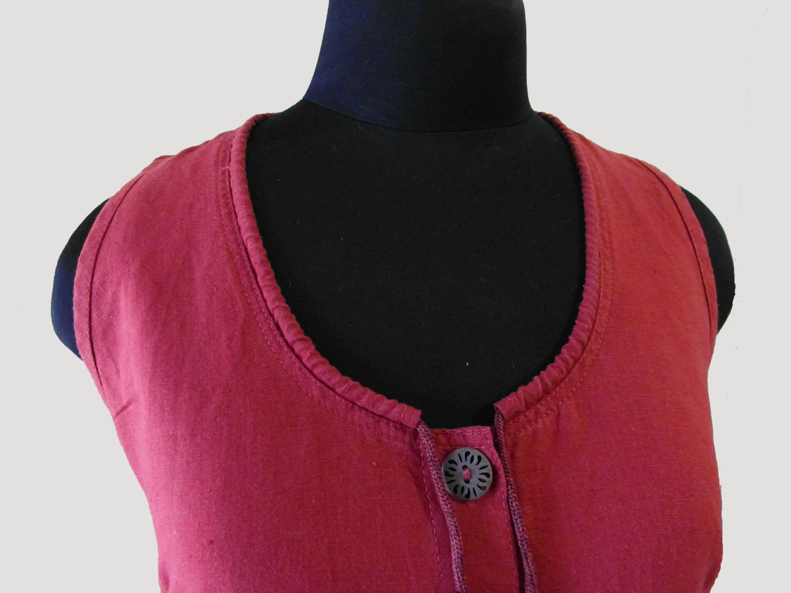 Льняное платье-халат в стиле «бохо»