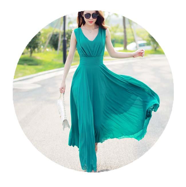Легкое платье из шифона